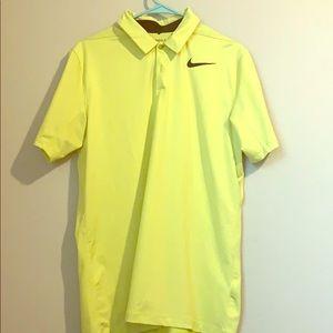 Men's Nike Golf Dri-Fit Yellow Polo Shirt